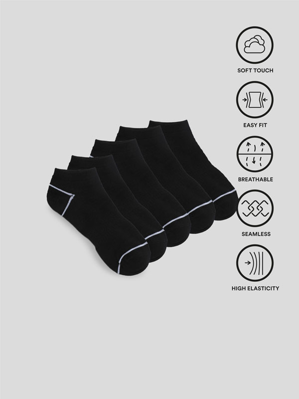 Pack of 5 pairs of sports socks