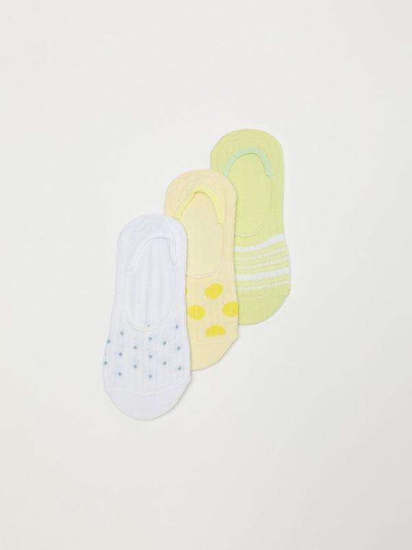 3-Pack of printed socks