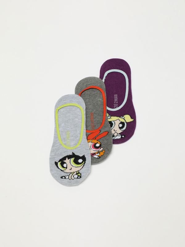 Pack of 3 pairs of The Powerpuff Girls © &™ WARNER BROS socks