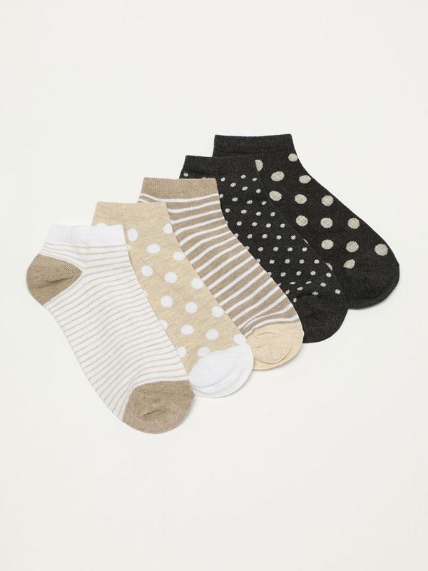 5-Pack of printed socks