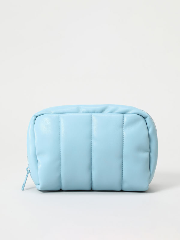 Quilted toiletry bag