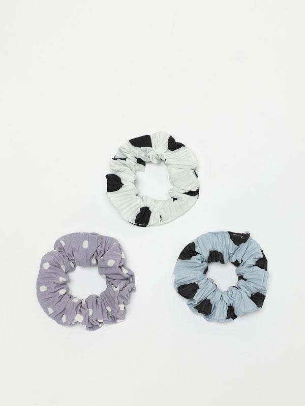 Pack of 3 polka dot scrunchies