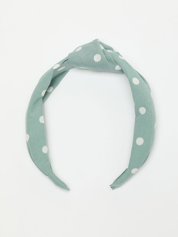 Polka dot print headband