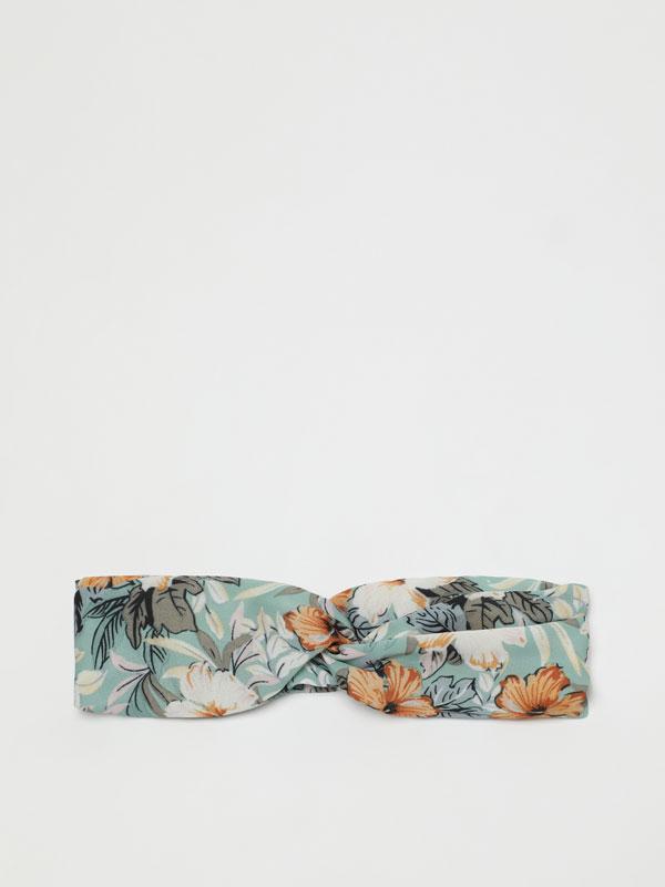 Floral print bandana