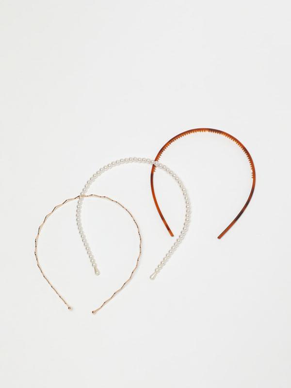 3-Pack of thin headbands