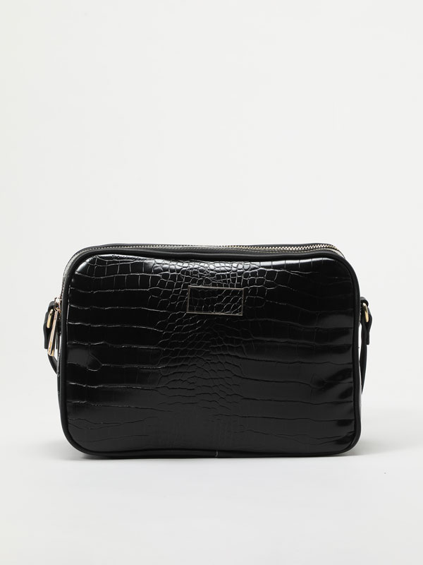 Faux crocodile leather bag