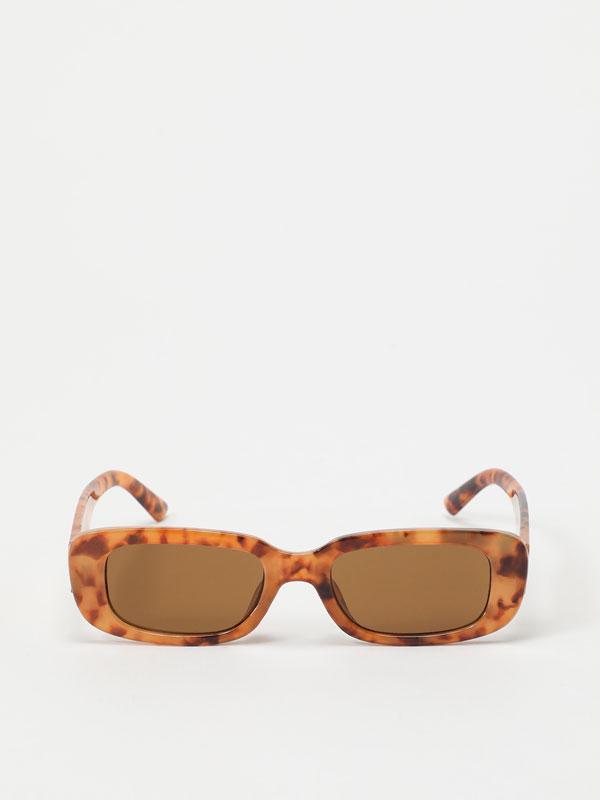 Rectangular tortoiseshell sunglasses