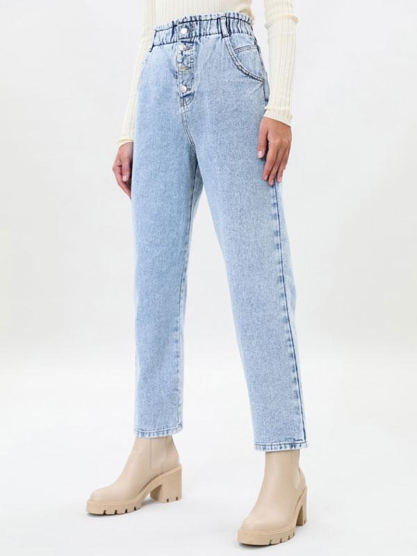 Pantalons baggy paperbag