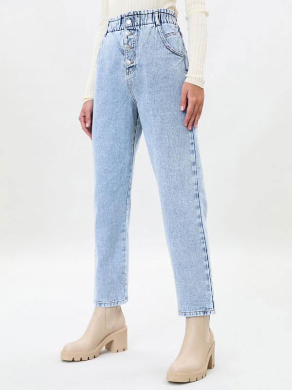 Baggy paperbag jeans