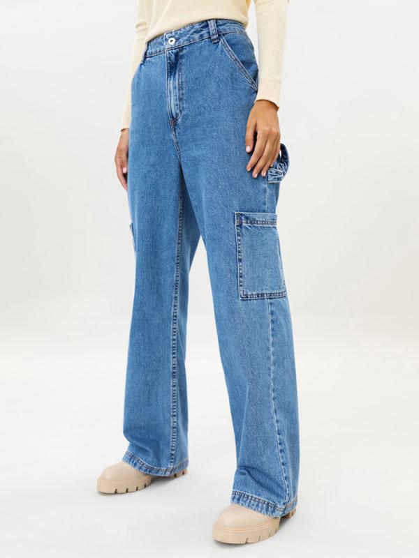 Full length cargo jeans