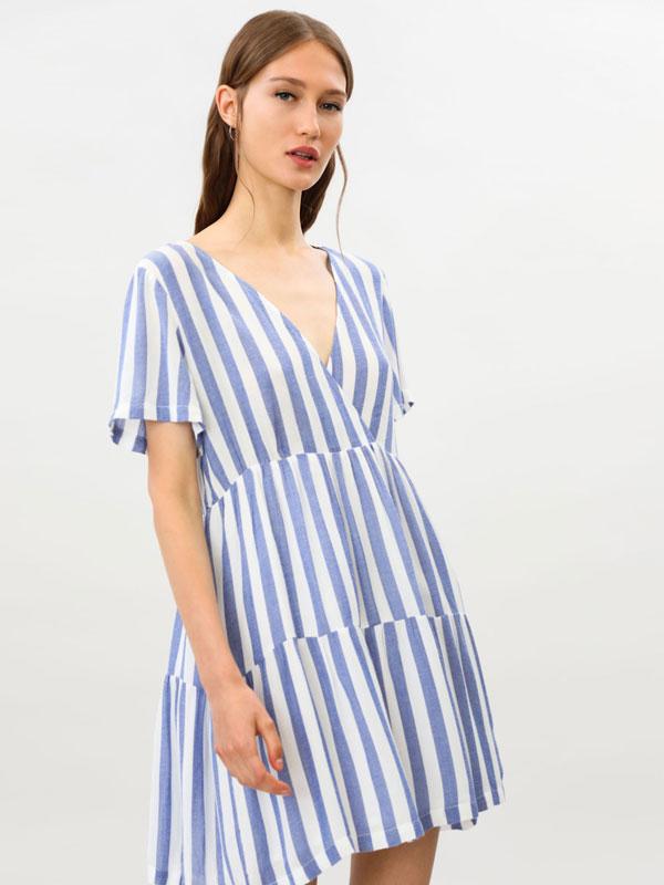 Flowing striped dress