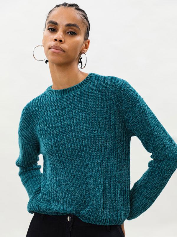 Basic chenille sweater
