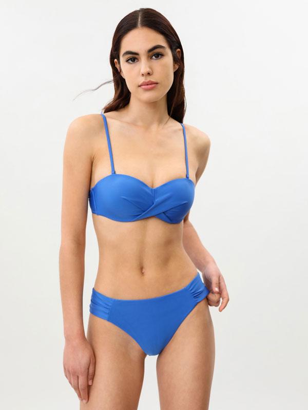 Gathered bikini bottoms