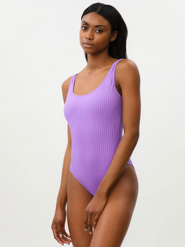 Textured swimsuit