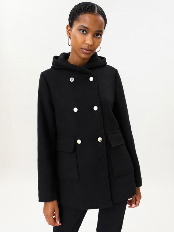 Basic coat with hood
