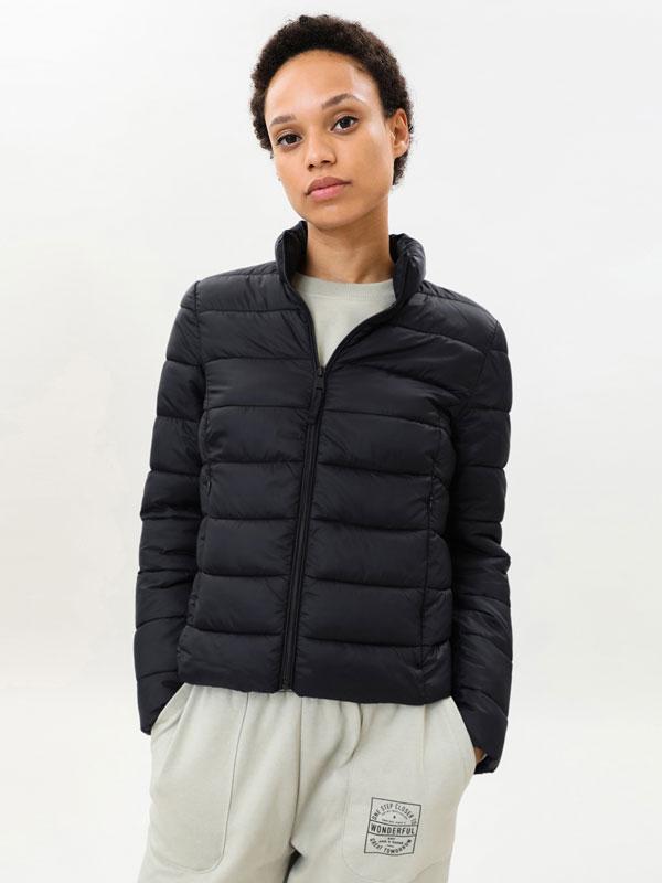 Basic lightweight puffer jacket