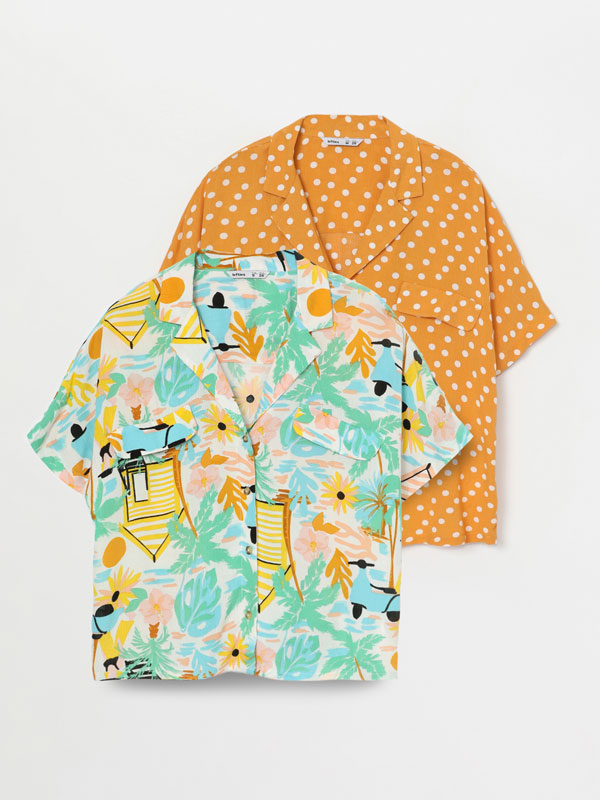 Pack of 2 contrast shirts