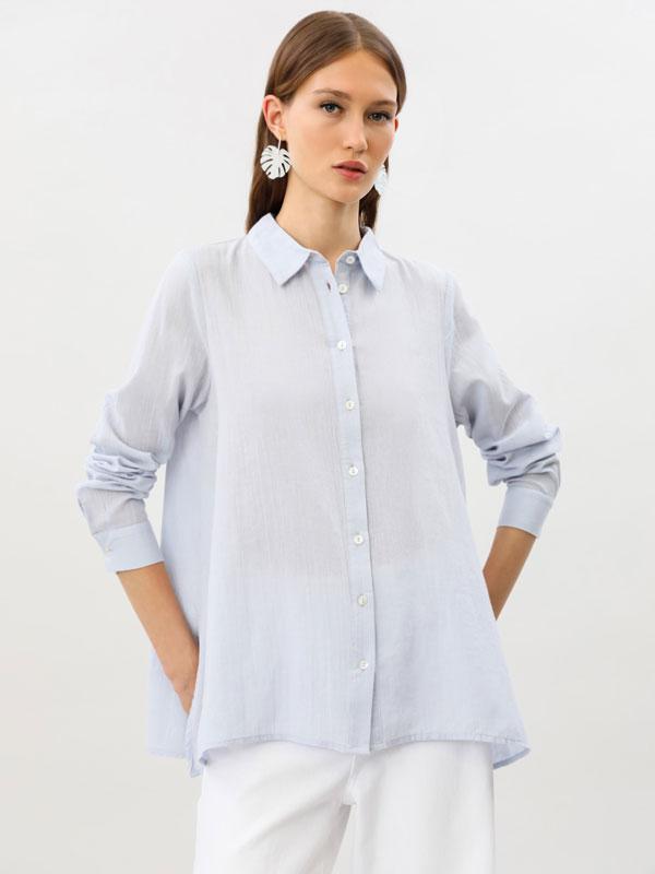 Camisa rústica de manga larga