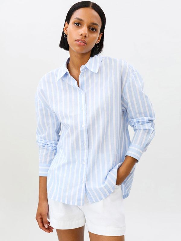 Camisa oversize de popelin