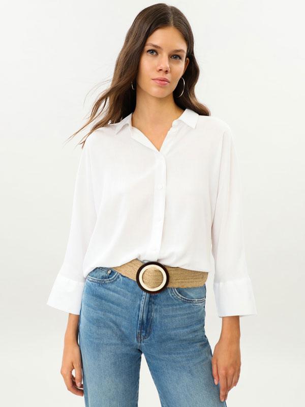 Camisa oversize de manga larga
