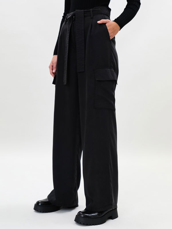 Lyocell cargo trousers