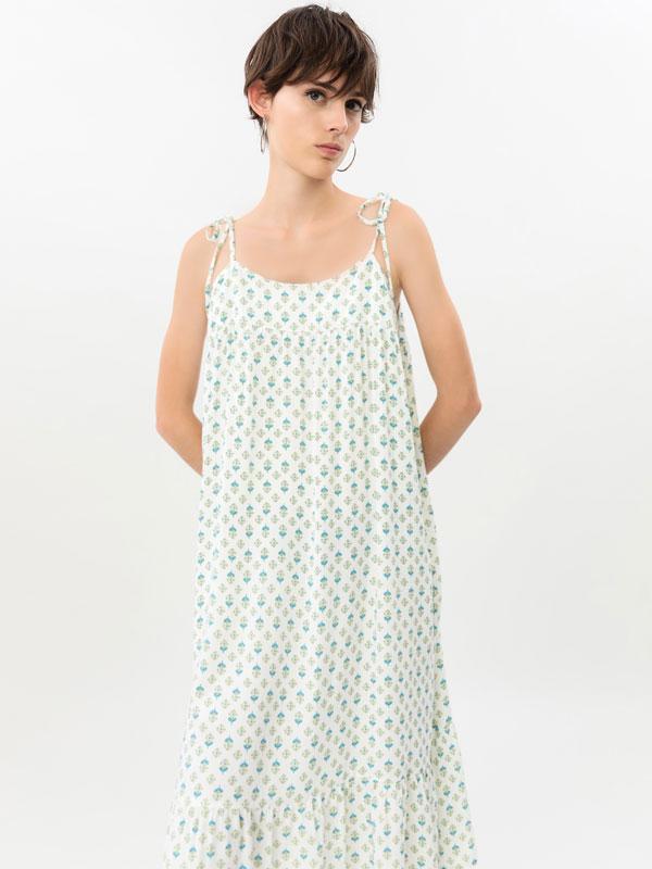 Strappy midi dress