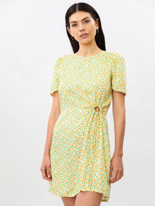 Dress with circular opening