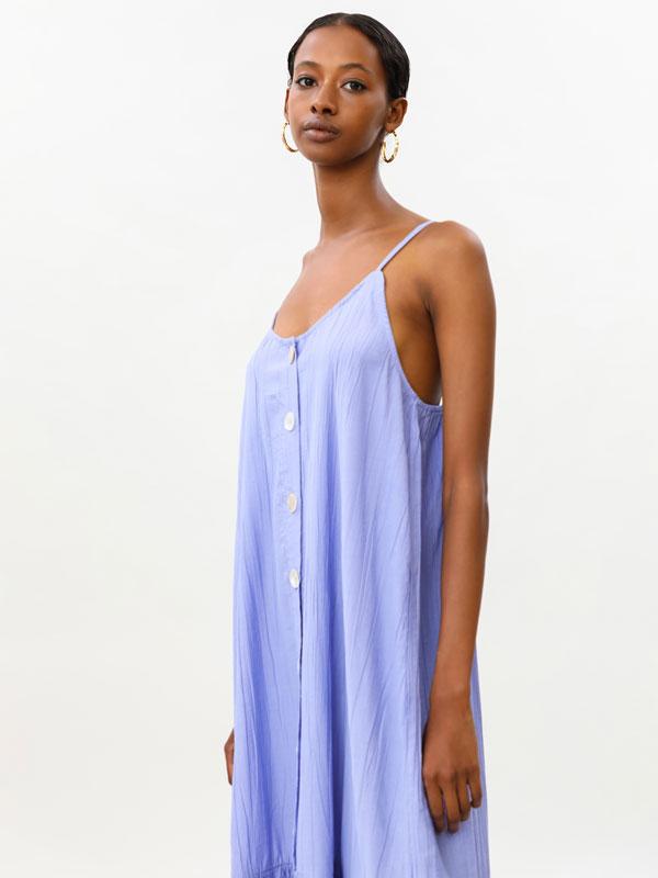 Midi dress with thin straps