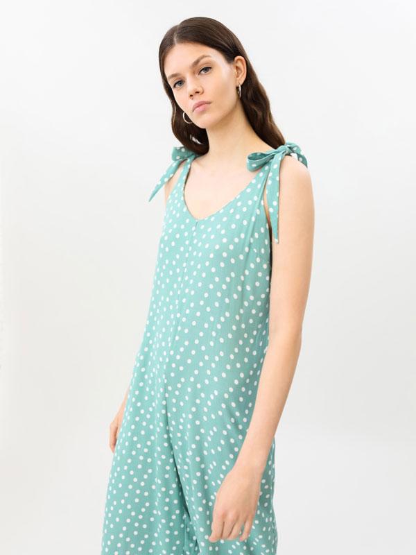 Long printed jumpsuit