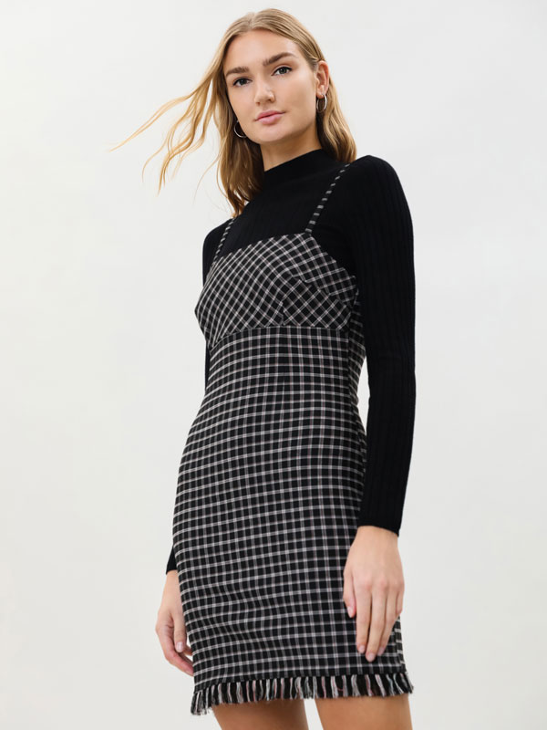Short checked dress