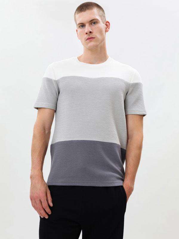 Colour block ottoman T-shirt