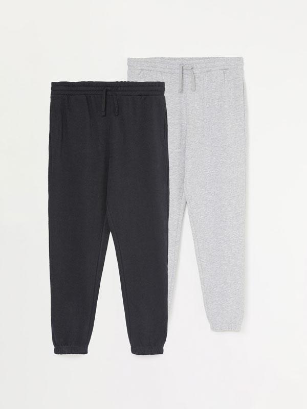 Pack de 2 pantalons jogger bàsics