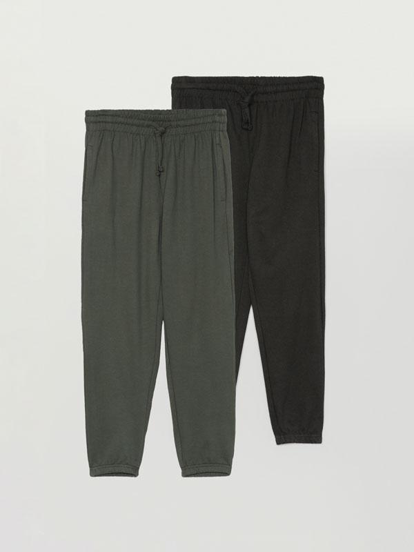 Pack de 2 calças jogger básicas