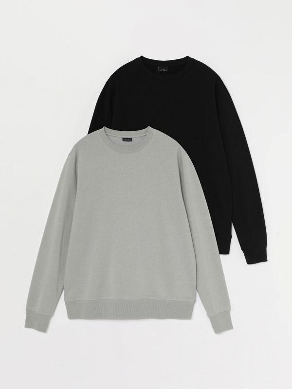 Pack of 2 basic sweatshirts