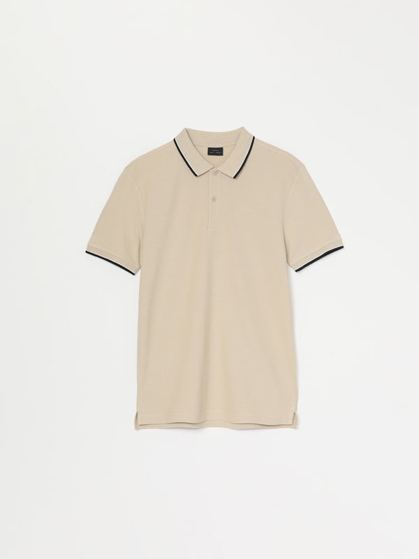 Básic polo shirt contrasting