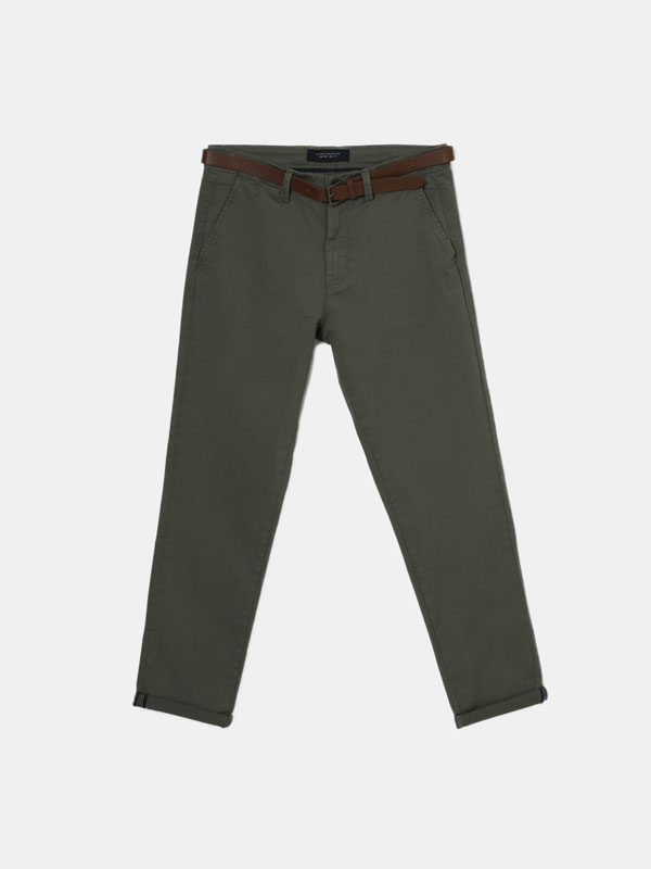 Chinos with Belt