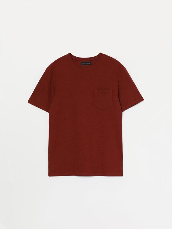 T-shirt ottoman de manga curta