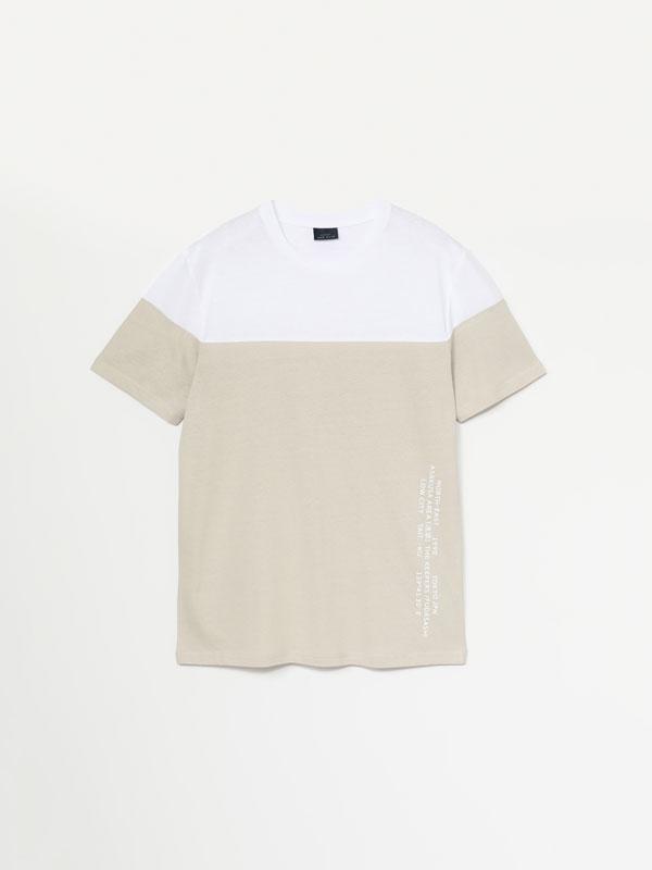 Printed colour block T-shirt