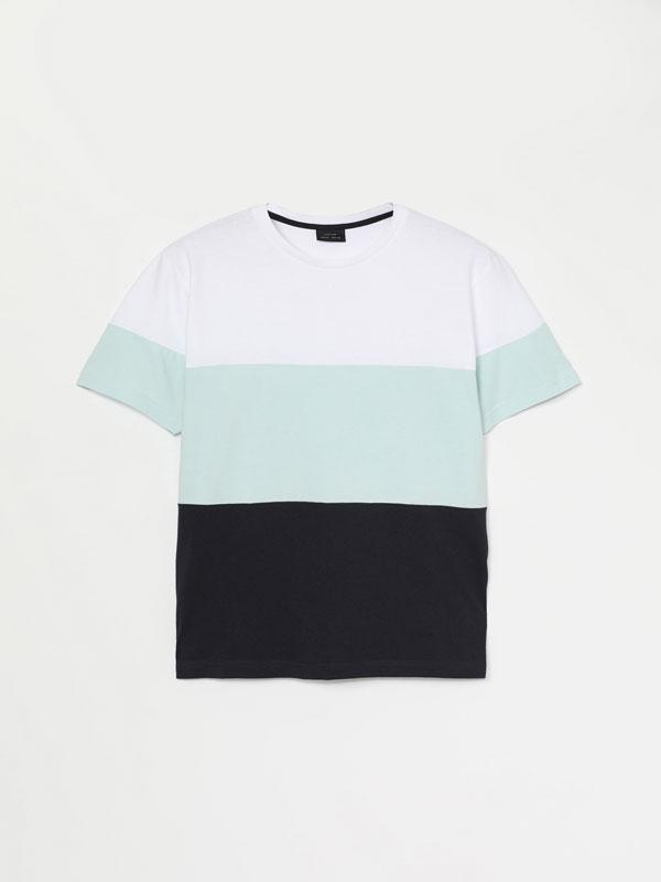 Colour block short sleeve t-shirt