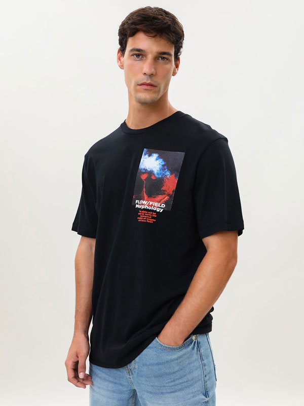 T-shirt with maxiprint