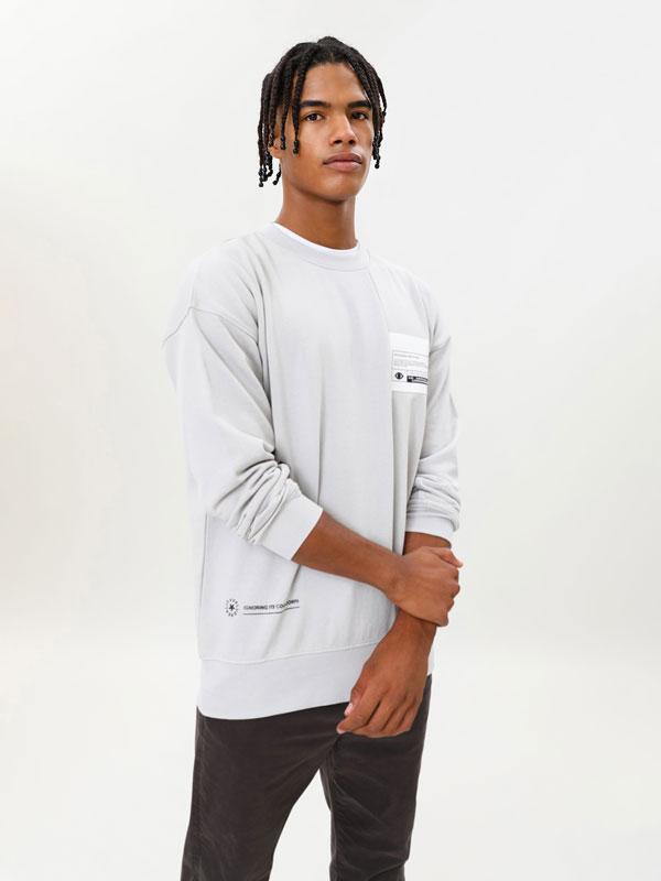 Sweatshirt with back maxi print