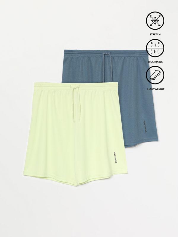 2-Pack of Bermuda sports shorts