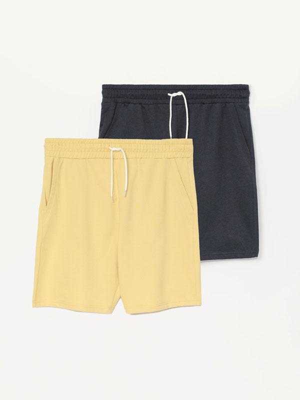 Pack de 2 bermudes jogger bàsiques