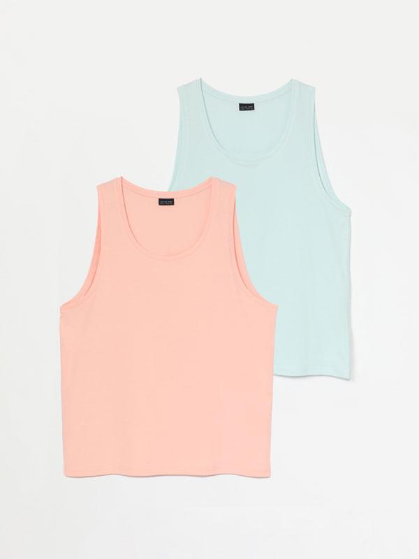 Pack de 2 samarretes de tirants