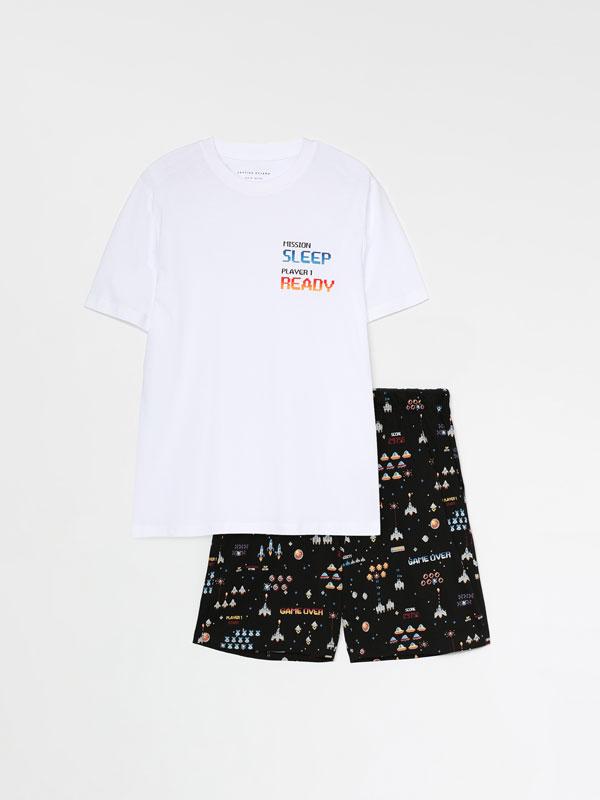 Conjunto de pijama corto estampado