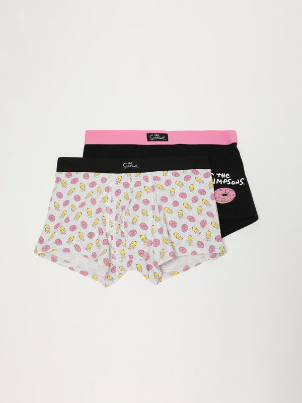 Pack of 2 boxers with The Simpsons ™ & © 20th Television print