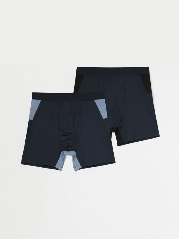 Pack of 2 pairs of sports boxers.