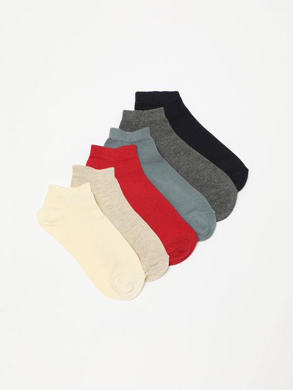 Pack of 7 pairs of basic ankle socks