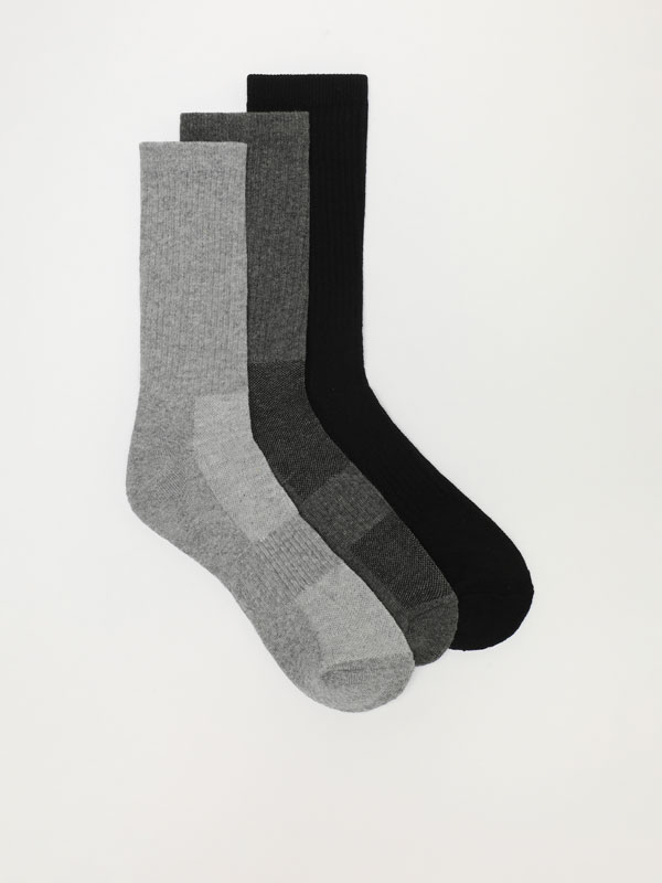 Pack of 3 pairs of long sports socks