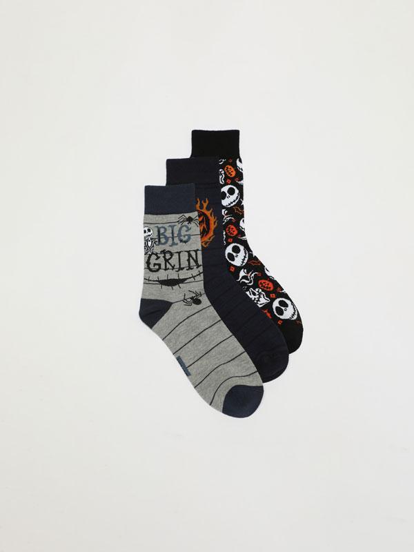 Pack de 3 pares calcetines Halloween Pesadillas antes de navidad ©Disney
